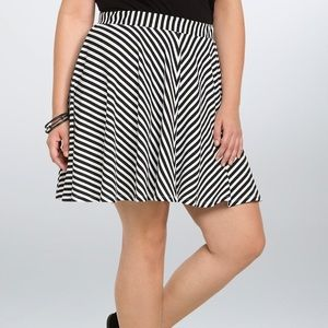 Striped Skate Skirt Plus Size
